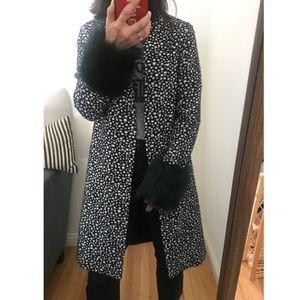 Helene Berman Spotted Faux Fur Coat